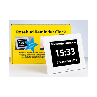 Rosebud Reminder Clock